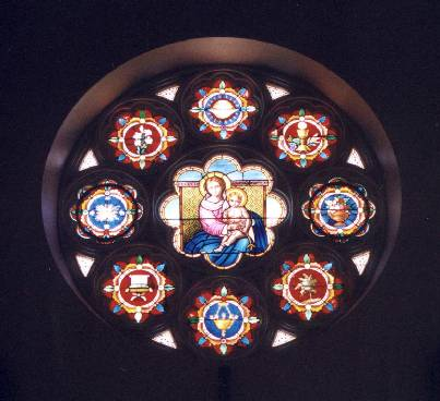 Window above alter